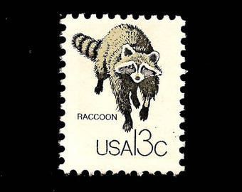 Baby Shower Stamps Usps ~ Raccoon stamps etsy