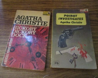 Vintage Agatha Christie Collection of two Books Pan Editions 1960s - Poirot and Miss Marple (1960s)