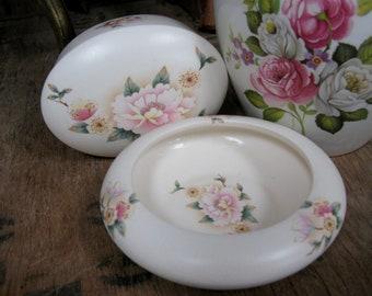Aldridge Pottery, Floral Box, Ceramic Box, Trinket Box, Jewellery Box, Keepsake Box, Jewelry Box, Trinket Dish, Dressing Table Set, English