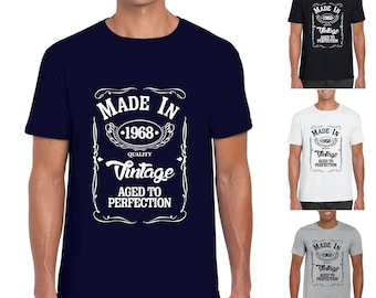 Made in 1968 Mens/Adults Novelty Tshirt - Funny Birthday Gift 50 Years Present 50th Birthday Gift