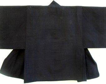 "Japanese ""Dochugi"" ..Travelling Coat (Edo Period) indigo.handwoven indigo cotton. Rare collectors item"