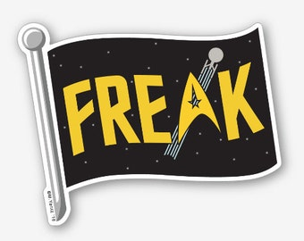 "Star Trek Freak Flag 4"" vinyl sticker"
