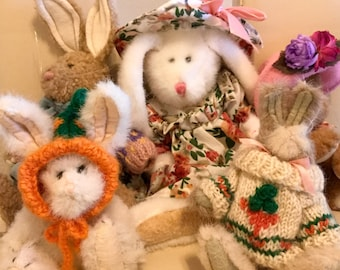 SALE - Vintage Boyd's Bunny Rabbit Collection Lot of Five Excellent Condition
