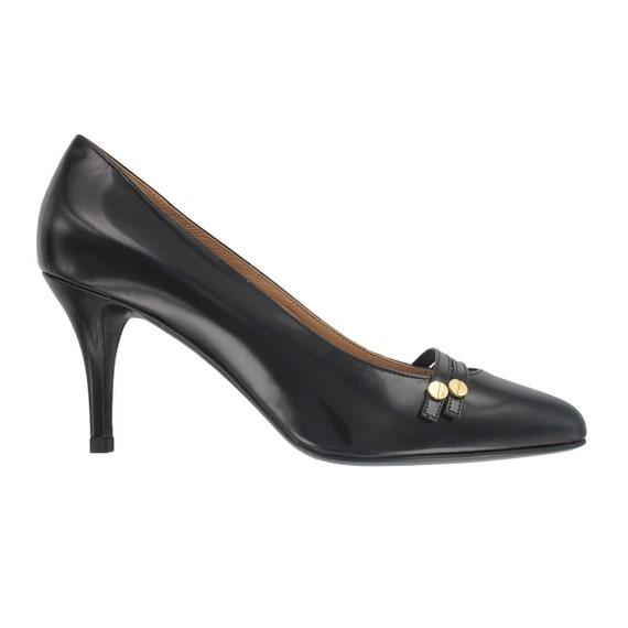 pump women stiletto toe pointy Black Women handmade pointed black toe Italy shoes Black pointy leather leather Black shoes pointy shoes ExzwnCTRq