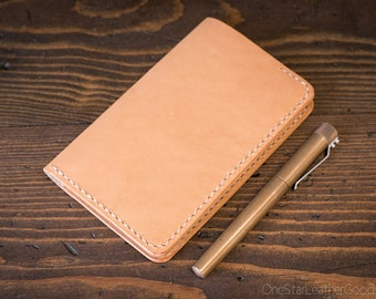 """Notebook cover, 3.5 x 5.5"""", Field Notes cover - natural veg"""