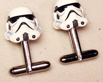 Groomsmen Gifts, Wedding, Storm Trooper silver toned cufflinks in gift box