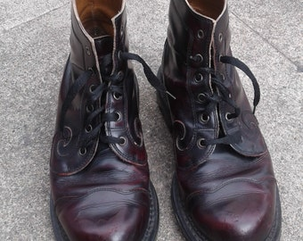 John Fluevog oxblood red boots