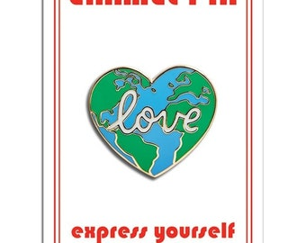 World Love / Love the Earth Enamel Lapel Pin by The Found