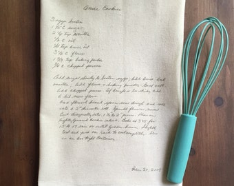 Your Recipe on a Towel