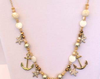 Gold Nautical Charm Necklace