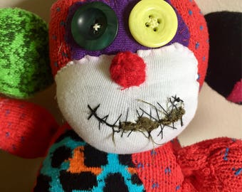 Scary Clown Sock Monkey