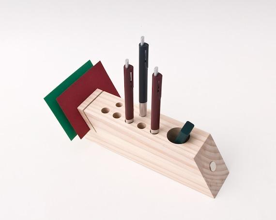 Bureau caddy organisateur de bureau bois accessoires de