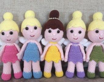 Crocheted fairies. Handmade to order