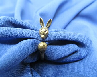 Rabbit Ring - Size 5.5, Vintage Jewelry, Rings For Women