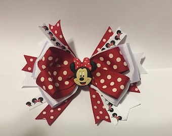 Minnie Mouse Hairbow, Mickey Mouse Hairbow, Hair bow