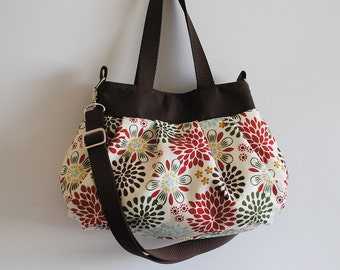 3WAY Tote Bag (SMALL or MEDIUM) w/ Adjustable Strap - Kennedy Floral