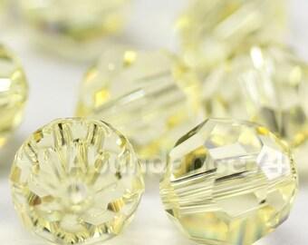 12 pcs Swarovski Elements - Swarovski Crystal Beads 5000 8mm Round Ball Beads - Jonquil