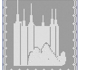 LDS Washington, DC Temple in Filet Crochet Pattern