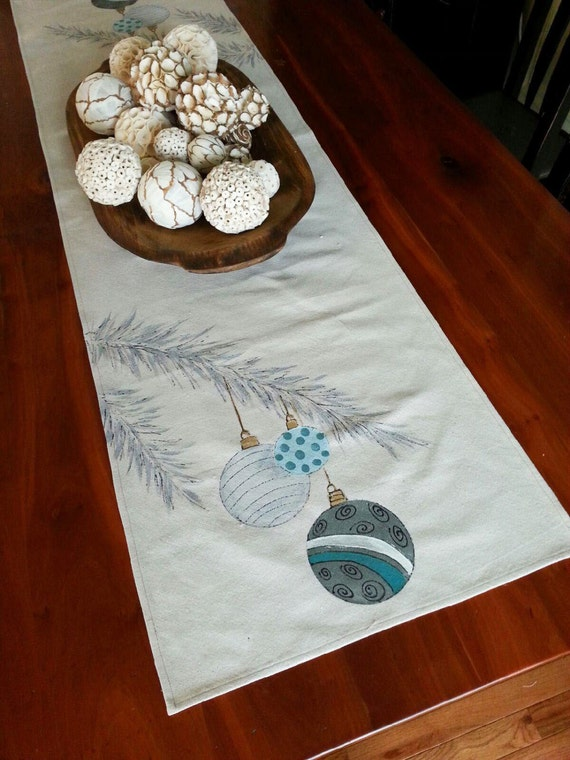 Holiday Linens Table Runner Christmas Decorations Christmas