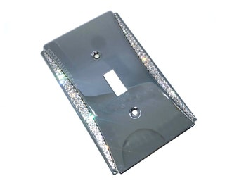 Accent CRYSTALLIZED Double Light Switch Plate Cover Blinged with Swarovski Crystals - CRYSTALL!ZED by Bri