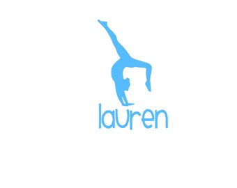 Personalized Dance Ballet Gymnastics Iron On Vinyl Decal