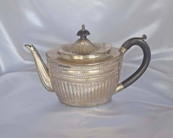 Lovely Old Victorian Repousse Silver Plated Teapot