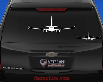 737 MAX [Front] 737 MAX Decal, 737 Max Sticker, Boeing 737 Max, Aircraft Sticker, Boeing 737 Decal, 737 Vinyl Decal, Max 8, Max 9