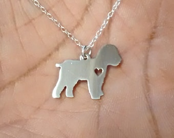 Cockapoo Necklace - Engrave Pendant - Sterling Silver Jewelry - Gold Jewelry - Rose Gold Jewelry - Personalized Pet Jewelry - Animal Charm