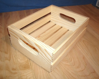 "12"" long 8 3/4"" wide wooden crate, wood crate, storage crate,wood crate, crate,"