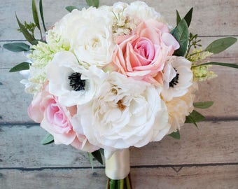 Silk Wedding Bouquet, Bridal Bouquet, Rose Bouquet, Peony Bouquet, Garden  Bouquet,