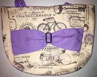 Purple Bike Bow Purse