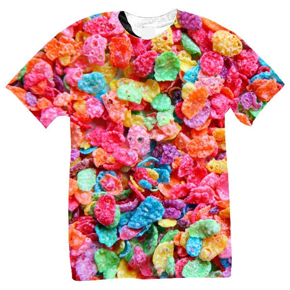 Fruity Pebbles Pink sublimation T shirt N1z0C