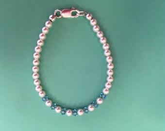 March Baby Bracelet AquaMarine