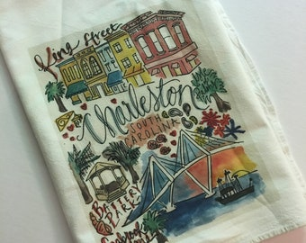 Charleston, SC South Carolina Dishtowel Tea Towel
