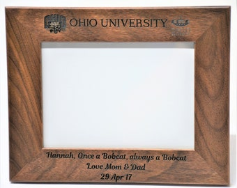 5x7 Walnut Wooden Picture Frame custom engraved just for you. Custom picture frame, personalized picture frame