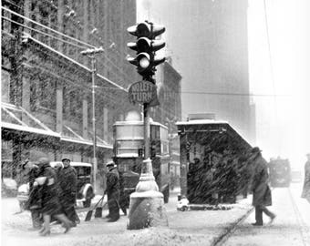 1927  - Snowstorm in Detroit