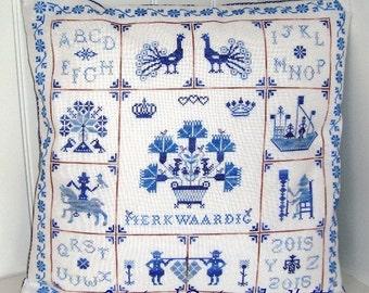 Merkwaardig Sampler in Delft Blue Tiles