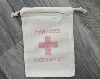 6x9 hangover recovery kit bags - wedding favors - bachelor party - bachelorette party