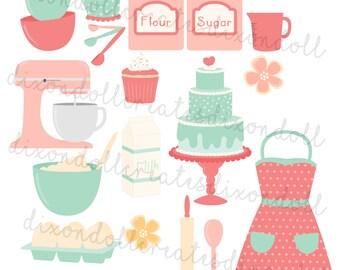 happy planner stickers - baking planner stickers - kitchen - cupcake stickers - cooking stickers - recipe stickers - happy planner - weekly