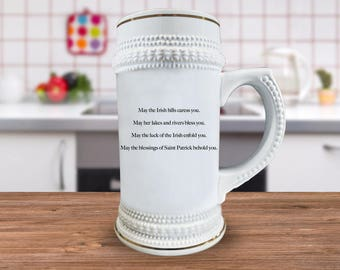 Irish Blessing Beer Stein