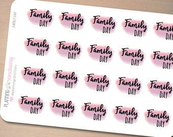 Watercolor Family Day Planner Stickers Perfect for Erin Condren, Kikki K, Filofax and all other Planners