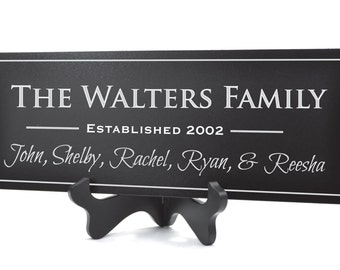 Family Name Established Sign Plaque Personalized Family Name Sign 10x36 Carved Engraved Wall Sign wedding or anniversary gift