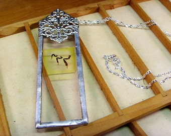 Microscope Slide Necklace, Bees Knees Bug Jewellery, Beekeeper Apiarist Gift