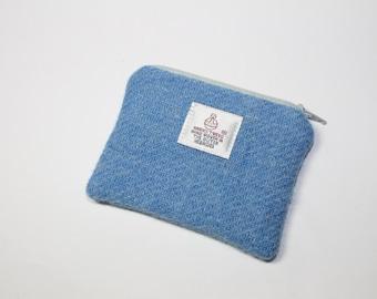 HARRIS TWEED purse, coin purse, change purse, blue change purse