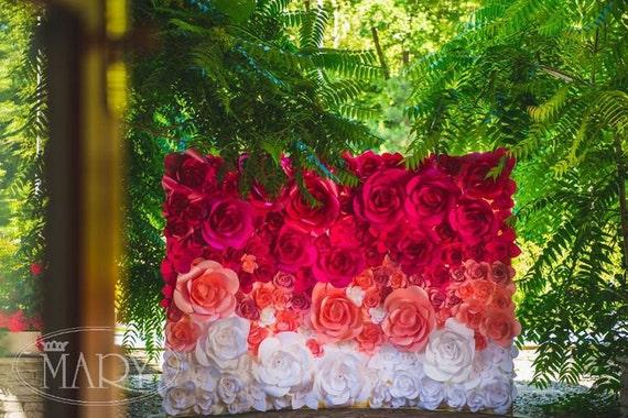 Ombre paper flower wedding backdrop wedding backdrop paper mightylinksfo
