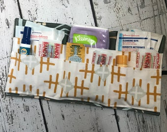 First Aid Fabric Travel Kit, Fabric Travel Roll, First Aid, First Aid Kit