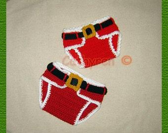 Baby Santa / Leprechaun Diaper Cover with adjustable Belt - INSTANT DOWNLOAD  Crochet Pattern