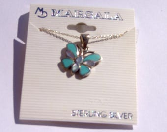 Marsala Sterling Silver Necklace- New