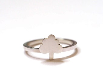 City Tree Ring, Silver Tree Ring, Town Tree Ring, Handmade Silver Stacking Ring, RockCakes, Brighton uk