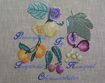 Exotic fruit cross stitch Embroidery